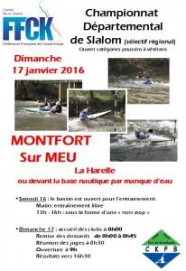 Affiche competition départemental slalom 2016